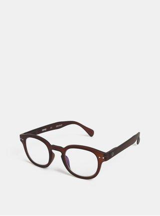 Hnědé ochranné brýle k PC IZIPIZI #C