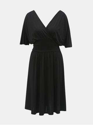 Čierne šaty s prekladaným výstrihom ONLY Iris