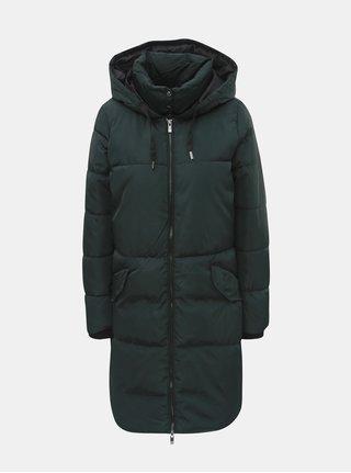 Tmavě zelený zimní prošívaný kabát ONLY Elin