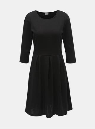 Černé šaty s 3/4 rukávem VILA Tinny