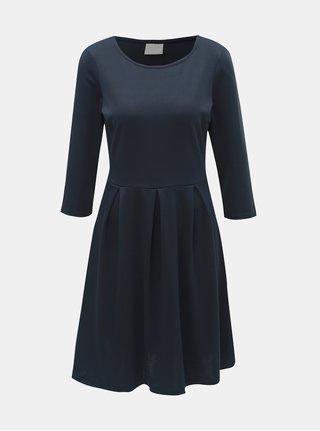 Tmavomodré šaty s 3/4 rukávom VILA Tinny