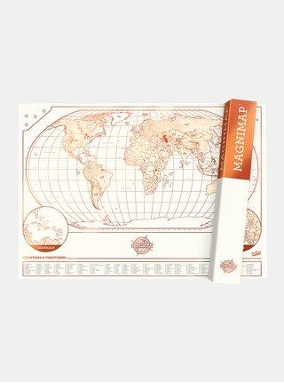 Harta magnetica roz-alb Luckies Magnimap