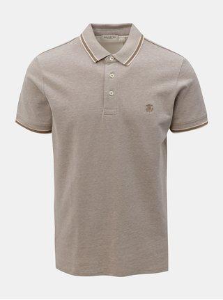 Béžové polo tričko s drobným vzorem Selected Homme Twist