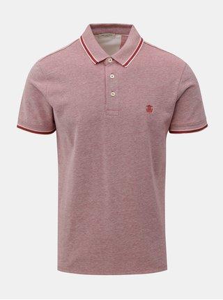 Červené polo tričko s drobným vzorem Selected Homme Twist