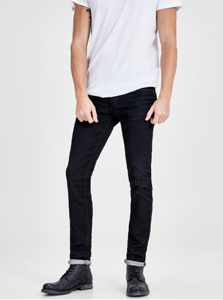 Blugi slim fit negri Jack & Jones Tim