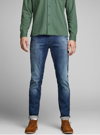 Blugi albastri slim fit - Jack & Jones Tim Original