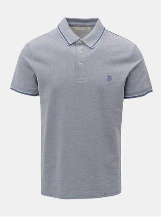 Světle modré polo tričko s drobným vzorem Selected Homme Twist