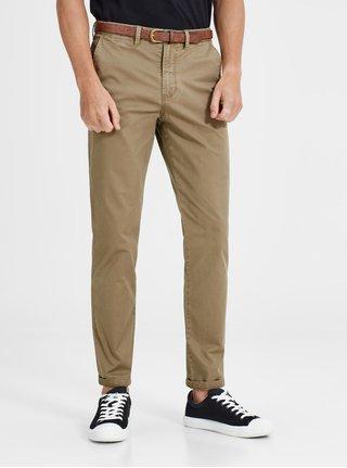 Pantaloni chino maro cu curea - Jack & Jones Spencer