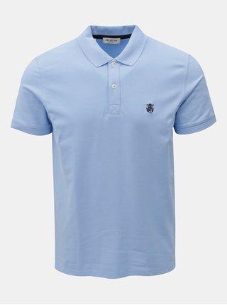 Světle modré polo tričko s výšivkou Selected Homme Haro
