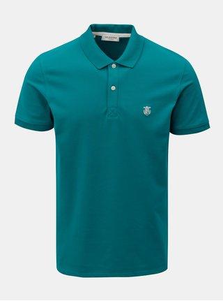 Zelené polo tričko s výšivkou Selected Homme Haro