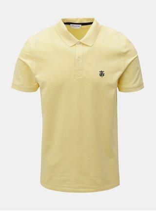 Žluté polo tričko s výšivkou Selected Homme Haro