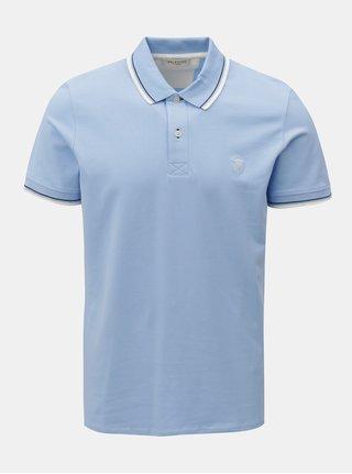 Světle modré polo tričko Selected Homme Season