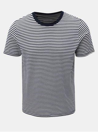 Bílo-modré pruhované basic tričko s krátkým rukávem Selected Homme Perfect