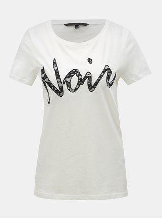 Tricou alb cu petic din dantela VERO MODA Loving