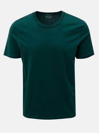 Tmavě zelené basic tričko s krátkým rukávem Selected Homme Perfect
