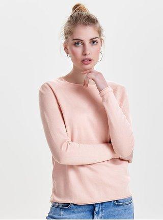 Pulover lejer roz pal ONLY Mila