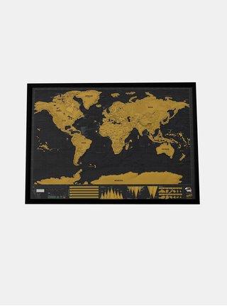 Velká nástěnná stírací mapa Luckies Deluxe XL