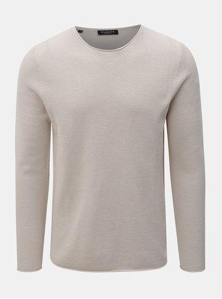 Béžový lehký svetr s dlouhým rukávem Selected Homme Rocky