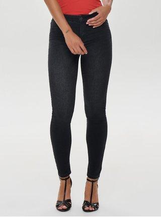 Tmavě šedé skinny džíny s nízkým pasem Jacqueline de Yong Ella