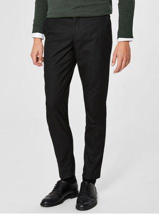 Černé kalhoty Selected Homme Slim