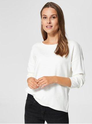Bílý volný svetr Selected Femme Minna