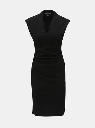 Černé pouzdrové šaty s řasením na bocích Dorothy Perkins Riley