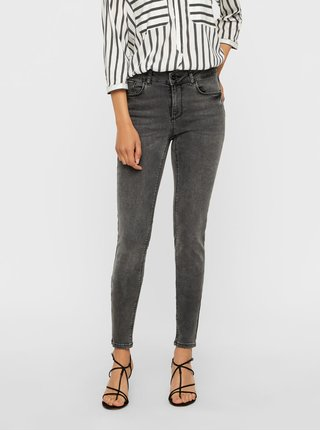 Blugi gri slim fit din denim VERO MODA