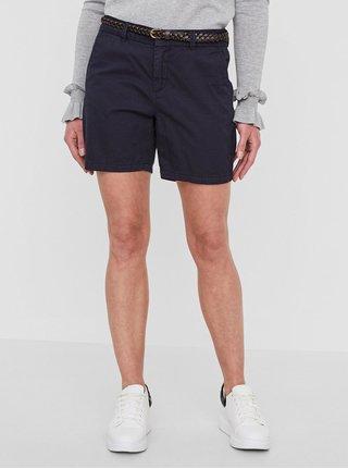 Pantaloni chino scurti bleumarin cu curea - VERO MODA Flame
