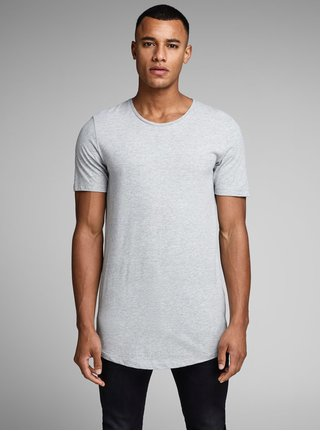Světle šedé basic tričko Jack & Jones Hugo
