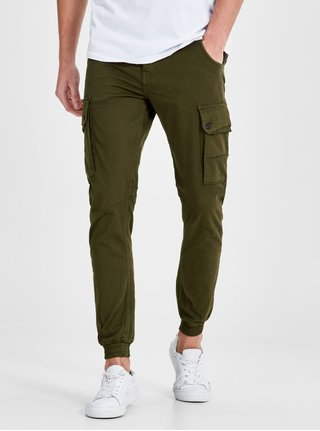 Pantaloni cargo kaki Jack & Jones Paul