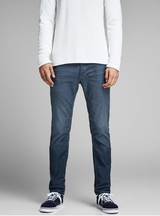 Modré slim fit rifle Jack & Jones Original
