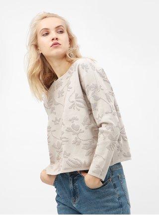 Krémový volný svetr s metalickým vláknem ONLY Molise