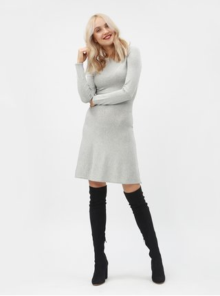 Světle šedé svetrové šaty Dorothy Perkins