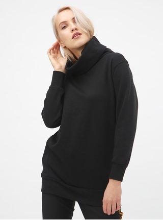 Bluza sport lunga neagra cu guler ONLY Jenny