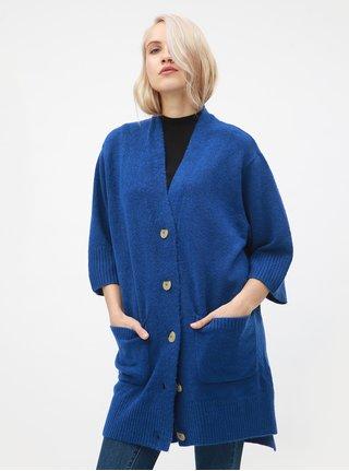 Modrý dámský oversize kardigan Broadway Glema