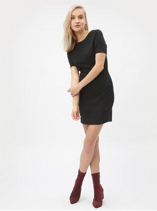 Černé pouzdrové šaty s krátkým rukávem VERO MODA Mynte