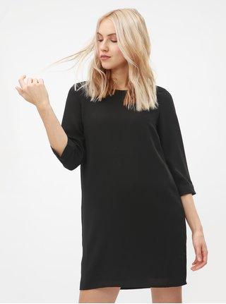 c109ee0a419 Černé šaty s 3 4 rukávem VERO MODA Gabby