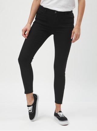 Černé skinny džíny se zipem na nohavicích Jacqueline de Yong