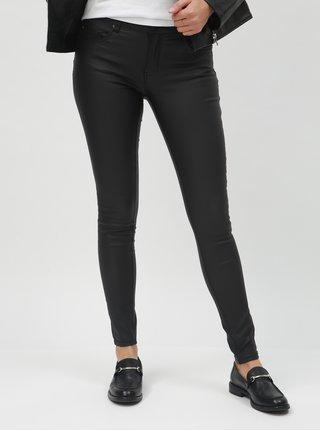 Černé skinny kalhoty s povrchovou úpravou ONLY