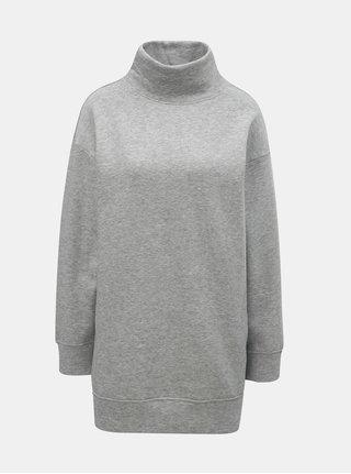 Bluza sport lunga gri melanj cu guler inalt Jacqueline de Yong Barb