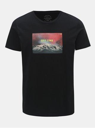 Černé tričko s potiskem Jack & Jones Social