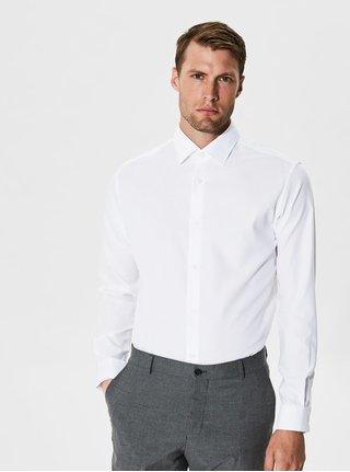 Biela formálna  slim fit košeľa Selected Homme One Pen