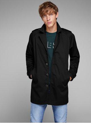 Čierny kabát s vreckami Jack & Jones New David