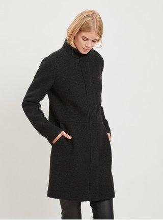 Pardesiu negru din lana VILA Lanis