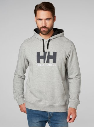 Hanorac barbatesc gri melanj regular fit cu imprimeu si broderie HELLY HANSEN