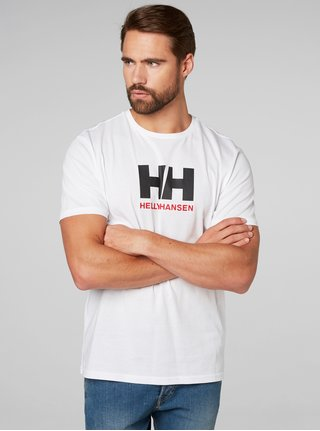 0f0d3b3eada Bílé pánské regular fit tričko s výšivkou HELLY HANSEN