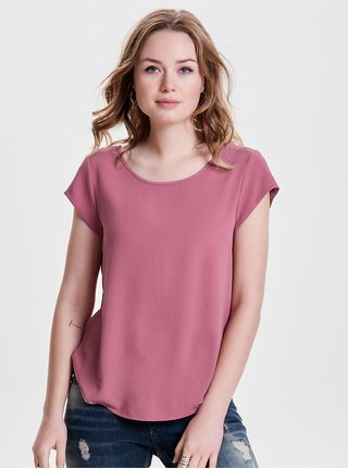 Bluza roz cu fermoar la spate ONLY Vic