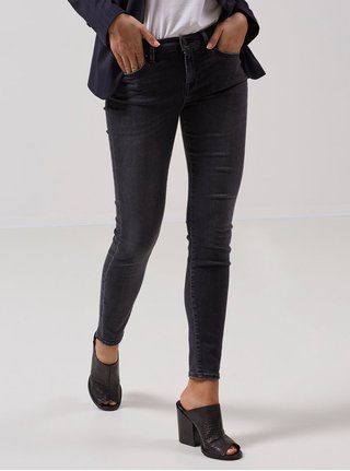 Černé super slim džíny Selected Femme Elena