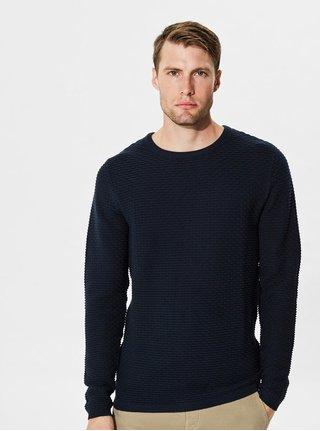Tmavě modrý svetr Selected Homme New Dean