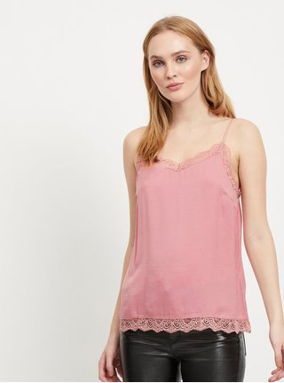 Top roz cu dantela VILA Cava